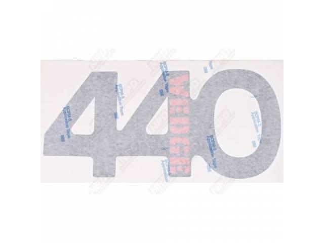 Stripe Kit, Hood, Red, 440 Wedge