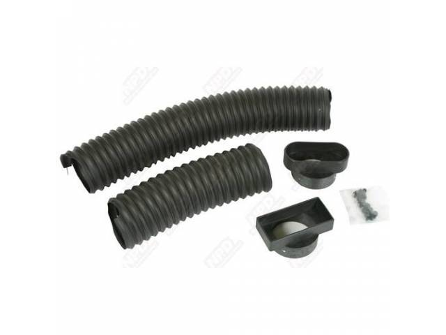 Vent Hose Set, Dash Side, Pair, Incl Adapters
