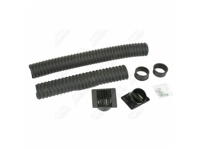 Hose And Vent Set, Dash, Pair, Incl Dash Vents, Hoses And Mounting Hardware, Repro