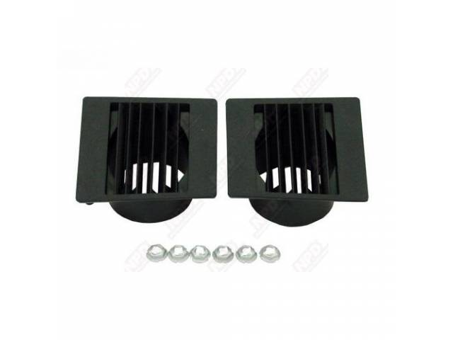 Deflector Dash Air Outlet Side Black Incl Mounting