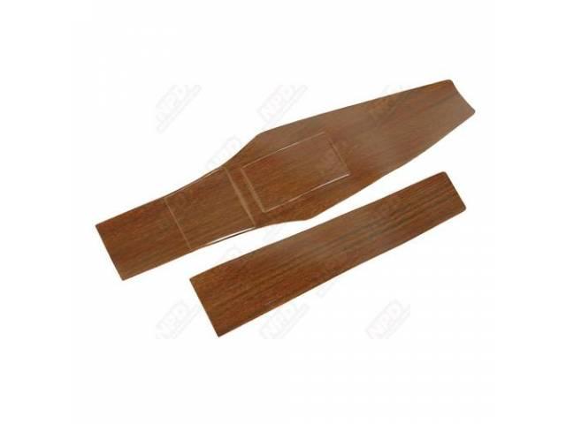 Woodgrain Insert Console Gunstock Vinyl Repro Die Cut