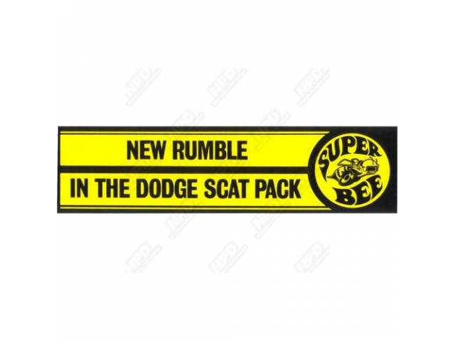 Bumper Sticker Bee New Rumble