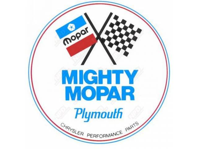 Decal, Mighty Mopar Performance Parts,  5 1/2 Inch Round