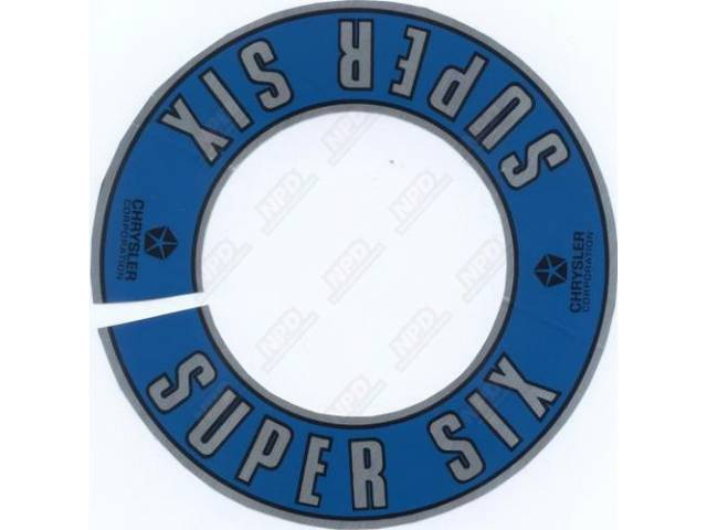 Decal Air Cleaner Super Six Correct Material And