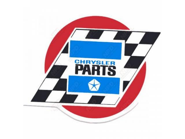 Decal Chrysler Parts 4 Inch Correct Material And