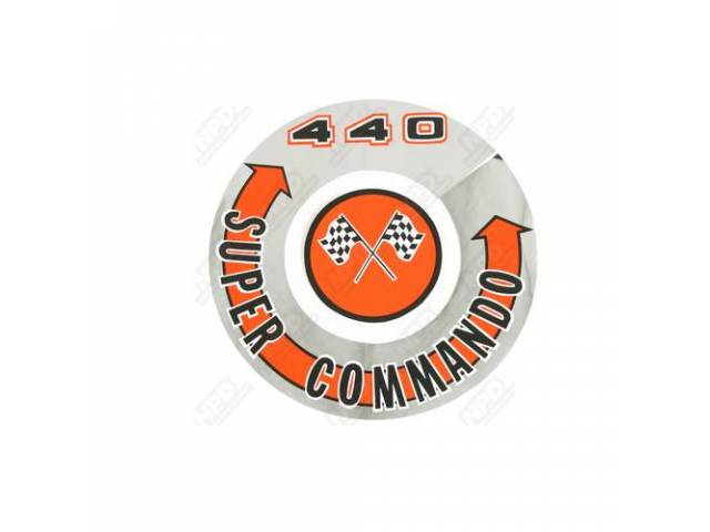 DECAL SUPER COMMANDO 440 AIR CLEANER CORRECT MATERIAL