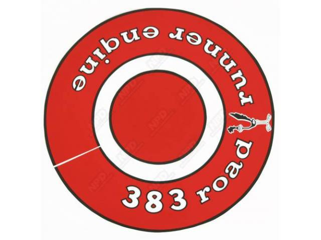 Decal 383 Road Runner Air Cleaner Correct Material