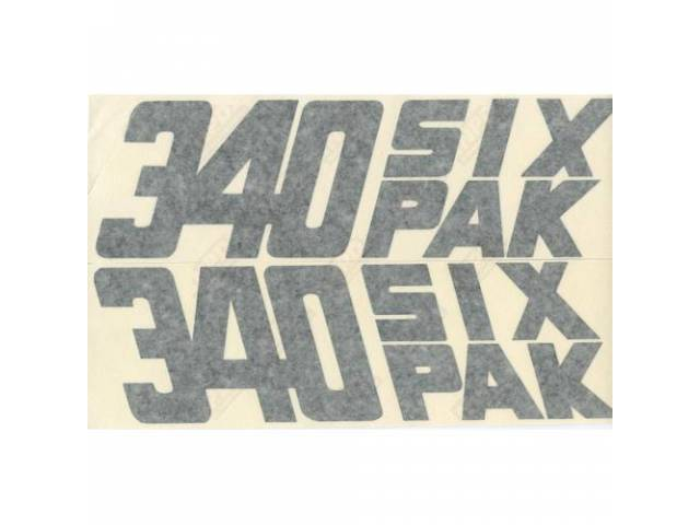 Decal 340 Six Pack Pair For Fender Correct
