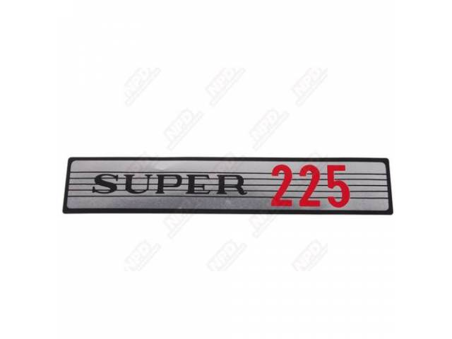 Decal,  Super 225,  Air Cleaner, Correct