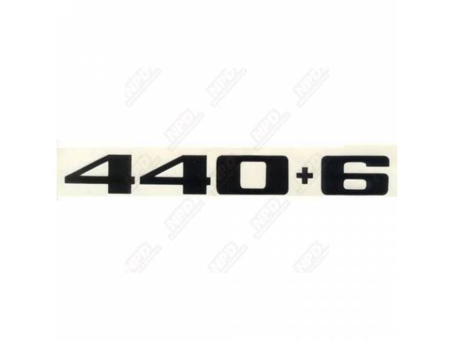 Decal 440-6 Fender Black Correct Material And Screen