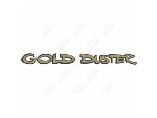 Decal, Gold Duster, Fender And Deck Lid, Correct