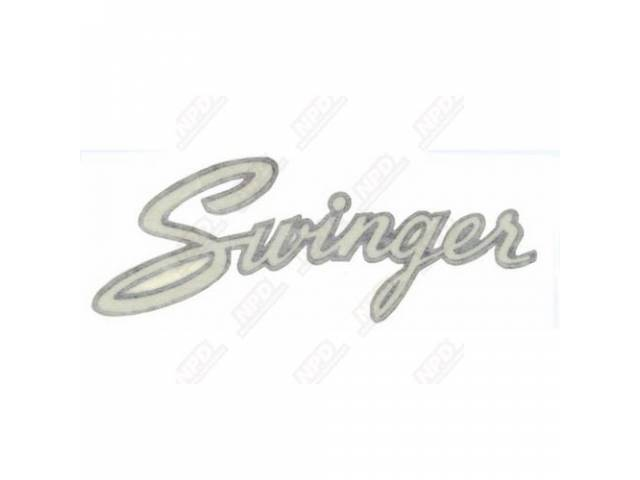 Decal Swinger Fender And Deck Lid Correct Material