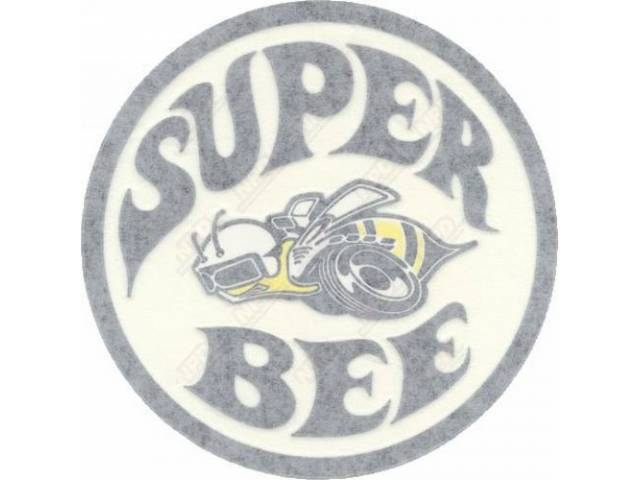 Decal Super Bee Quarter Panel Lh Black Correct