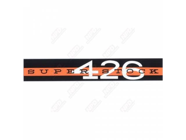 Decal, Super Stock 426, Valve Cover Decal, Correct