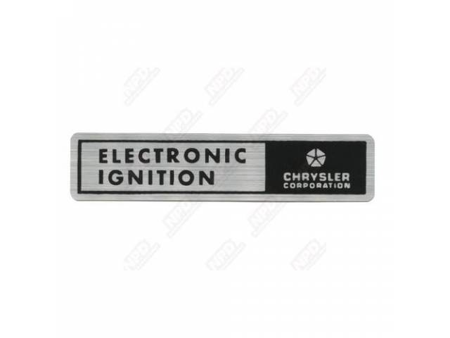 Decal Electronic Ignition Correct Material As Original Licensed