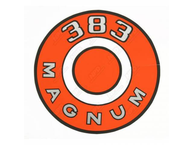 Decal, 383 Magnum, Orange, Air Cleaner Correct Material