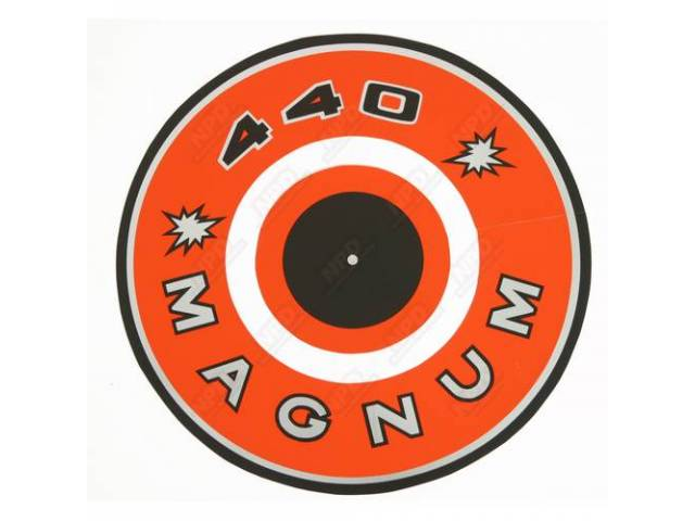 Decal 440 Magnum Orange Air Cleaner Correct Material