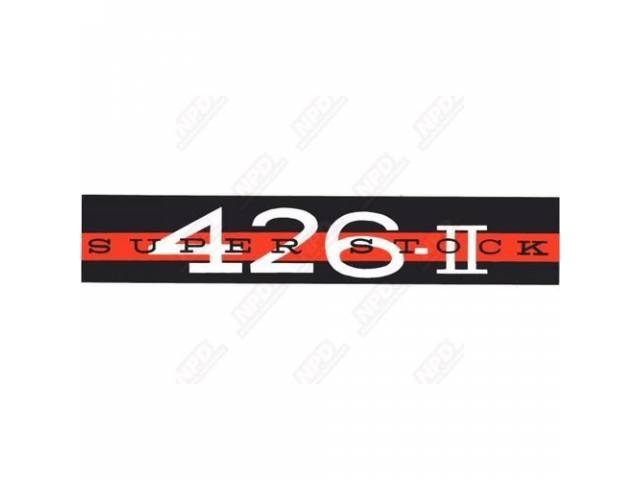 Decal, Super Stock 426 Ii, Valve Cover, Correct Material And Screen Printed As Original, Officially Licensed Product By Chrysler Llc