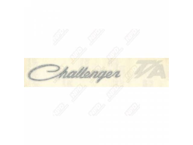Decal Challenger T/A Deck Lid Correct Material And