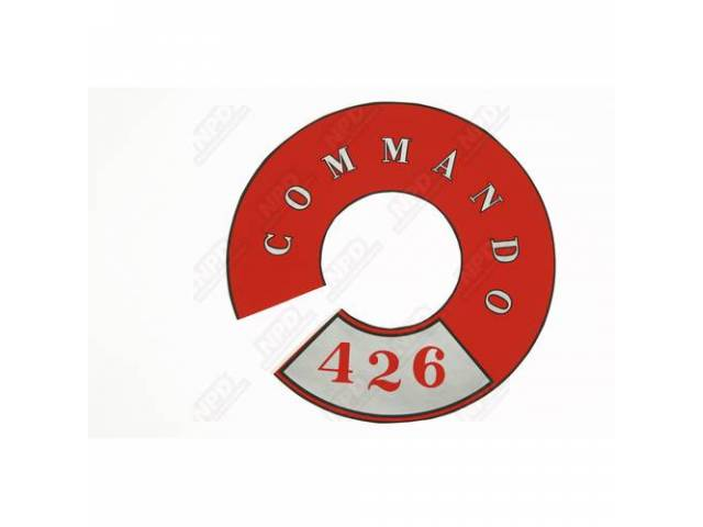Decal Commando 426 Full Circle Air Cleaner Correct