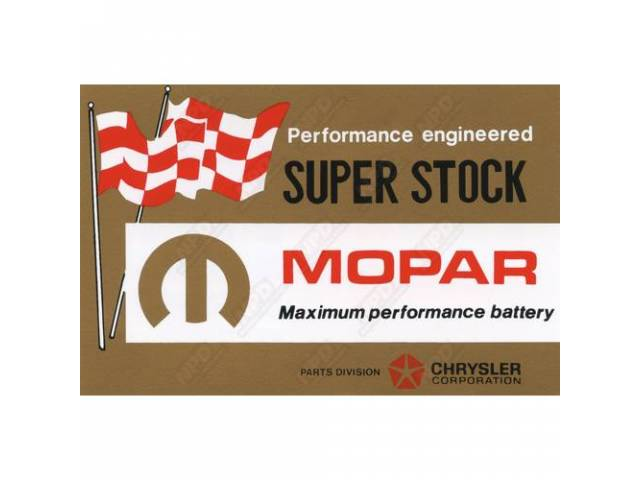 Decal Super Stock Battery Correct Material And Screen