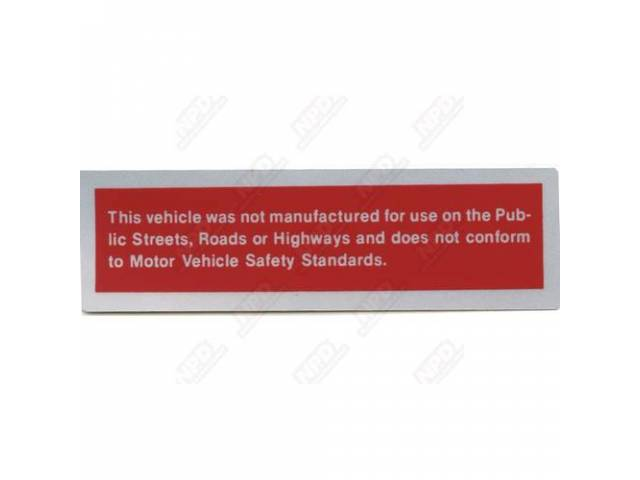 Decal Door Post Safety Act Correct Material And