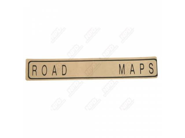 Decal, Road Maps, Glove Box, Correct Material And