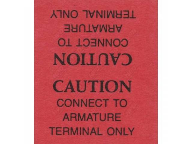 Decal, Generator Caution Warning Tag, Correct Material And