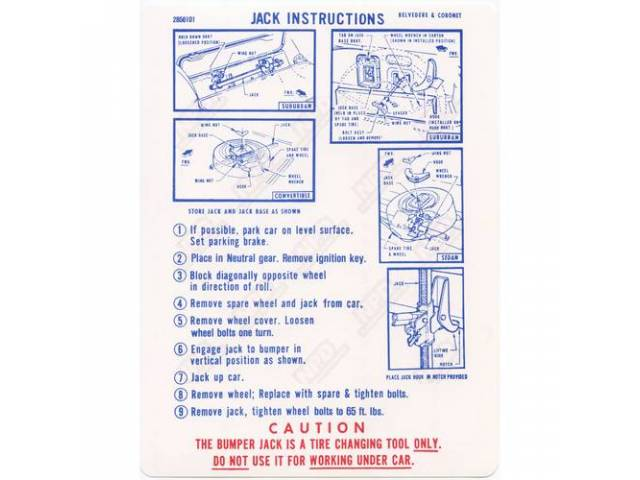 Decal Jack Instructions Correct Material And Screen Printed