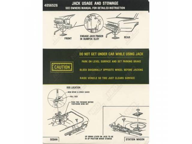 Jack Storage Instructions