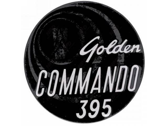 Decal Golden Commando 395 Air Cleaner Correct Material