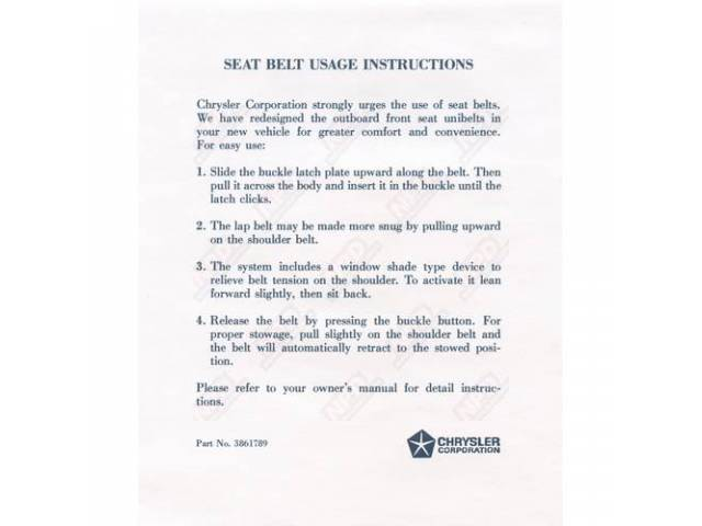 Sleeve Seat Belt Instructions Sleeve Correct Material And