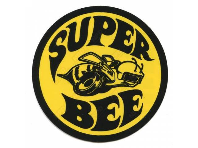 Decal, Super Bee, Window, Correct Material And Screen Printed As Original, Officially Licensed Product By Chrysler Llc