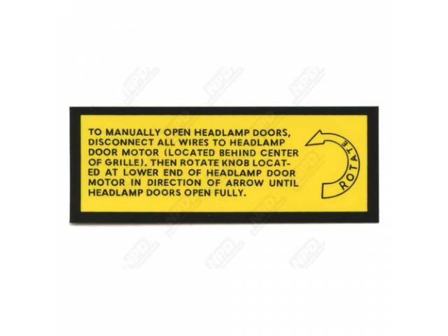 Decal Manually Open Hidden Head Lights Correct Material