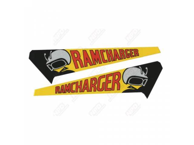 Decal Ramcharger Hood Pair Correct Material And Screen