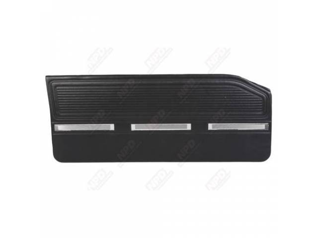 Front Door Panels Black