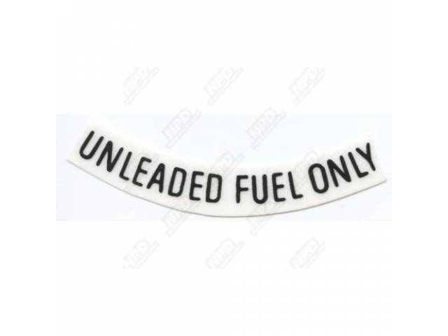 Unleaded Fuel Only