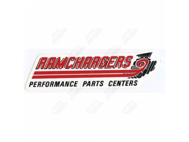 Decal, Ram Performance Parts Center, Correct Material And