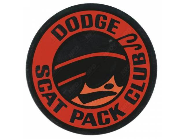 Decal Dodge Scat Pack Club Correct Material And
