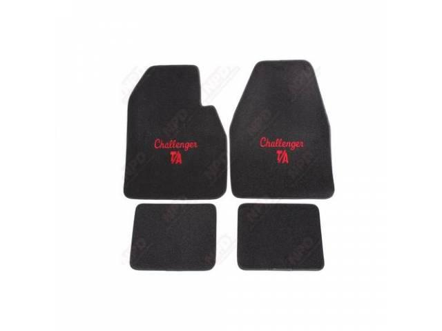 Floormat Black W/ Redchallenger T / A