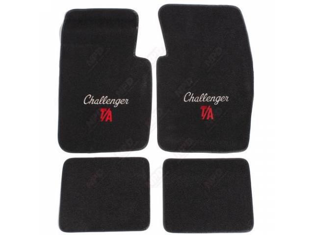Floormat Black W/ Silver Challenger T / A