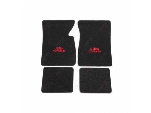 Floor Mats Black W/ Red Lil Red Express