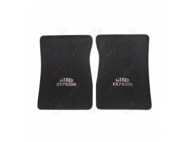 Floor Mats Black W/ Silver Lil Red Express