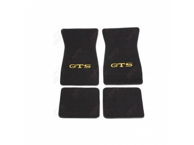 Floor Mat, Black W/ Yellow Gts