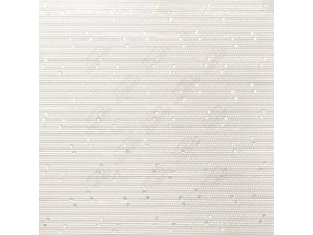 Headliner, Perforated, White, 6-Bow