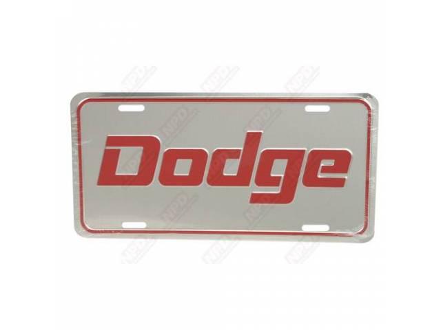 License Plate, Dodge