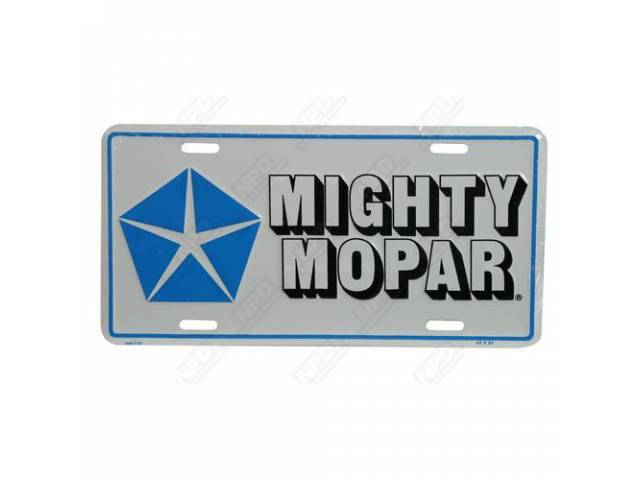 License Plate, Mighty Mopar