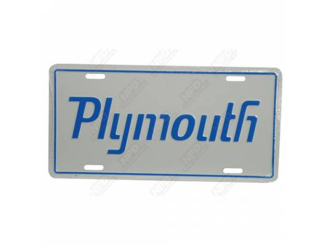 License Plate - Plymouth