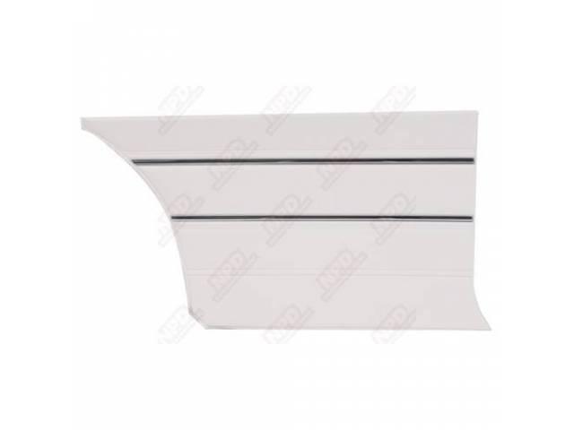 Rear Quarter Trim Panel, White, Krinkle Grain W/