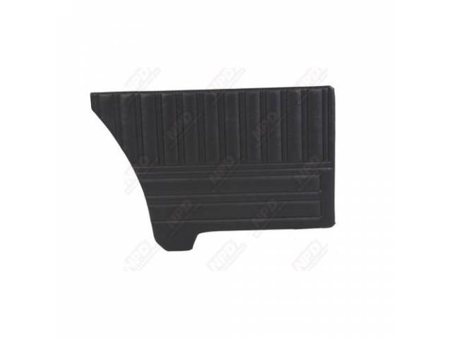 Rear Quarter Trim Panels, Black, Coachman Grain